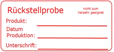 "Etiketten ""Rückstellprobe"" Magic-Label (500 St.)"