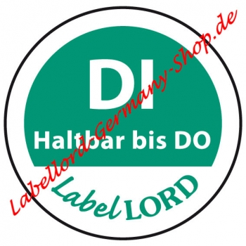 Labellord Dienstag Label Flushlabel