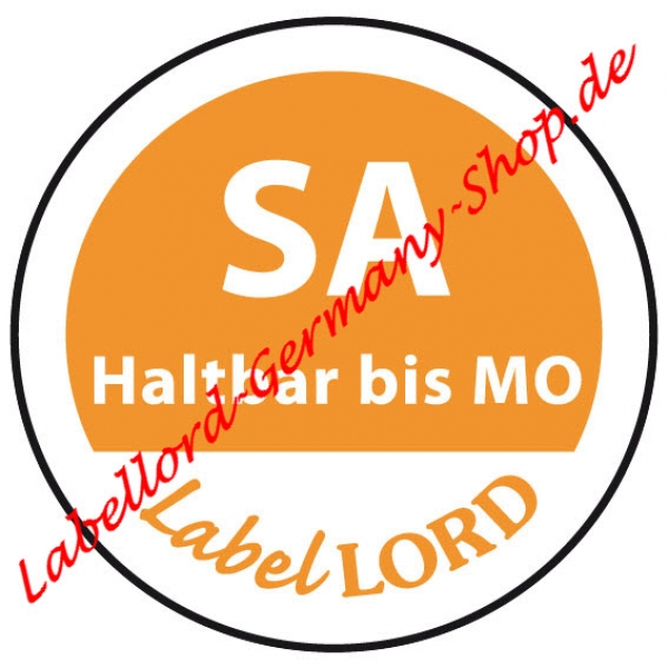 Labellord Tagesetikett Samstag Flushlabel