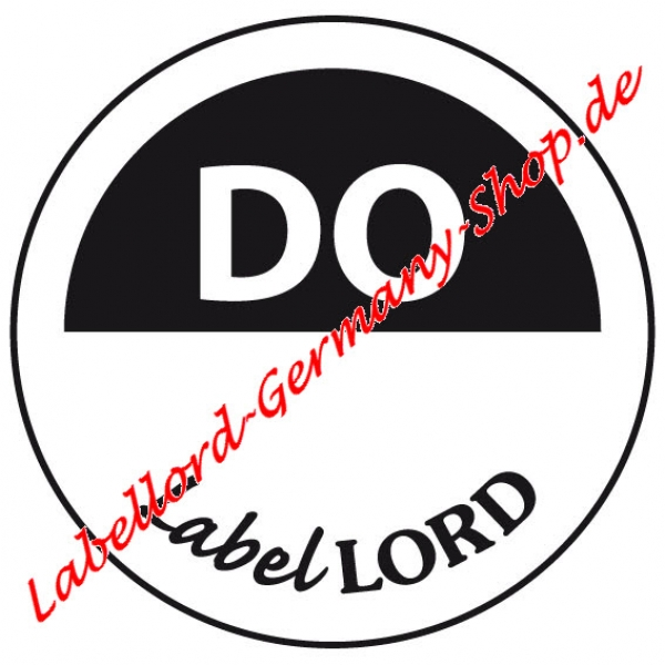 Labellord Tagesfarbpunkte Donnerstag Flushlabel