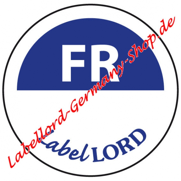 Labellord Tagesfarbpunkt Freitag Flushlabel