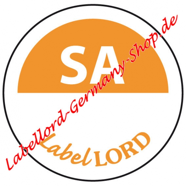 Labellord Tagesfarbpunkt Samstag Flushlabel